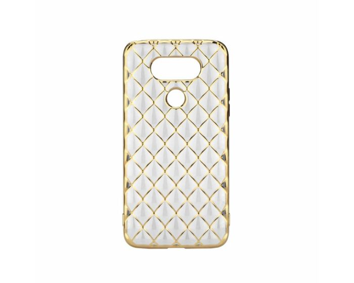 Forcell Luxury Diamonds Slim Fit Gel Case Θήκη Σιλικόνης Gold (LG G5)