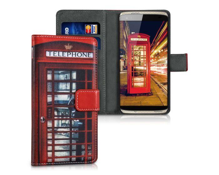 KWmobile Wallet Case Θήκη Πορτοφόλι με δυνατότητα Stand (38701.01) Phone Booth (ZTE Axon Mini)