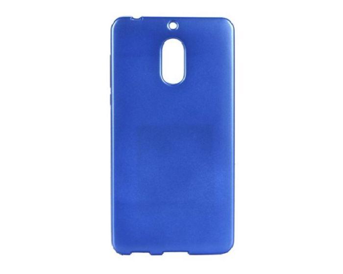 Forcell Jelly Flash Slim Fit Case Θήκη Gel Blue Matte (Nokia 6)