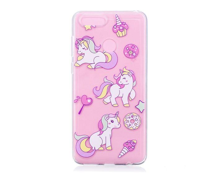 Slim Fit Gel Case Desserts and Unicorns Θήκη Σιλικόνης (Huawei Honor 7X)