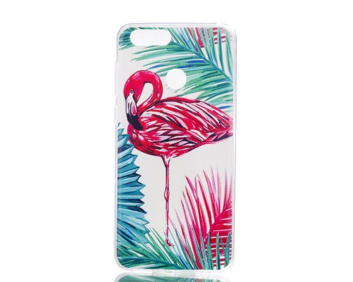 Slim Fit Gel Case Flamingo and Leaves Θήκη Σιλικόνης (Huawei Honor 7X)