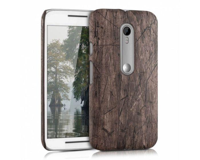 KWmobile Vintage Wood Design Hard Case (37721.18) Θήκη Πλαστική (Motorola Moto G 3rd Gen)