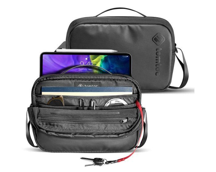 Tomtoc Urban Commute Crossbody Bag Θήκη Τσάντα για iPad Air / Pro 9.7'' - 11'' - Black