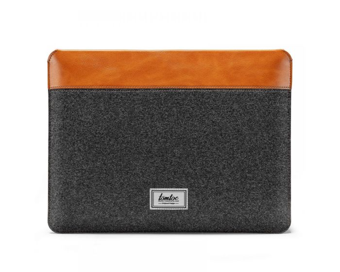 Tomtoc Felt & PU Leather Sleeve Θήκη Τσάντα για MacBook / Laptop 16'' - Grey