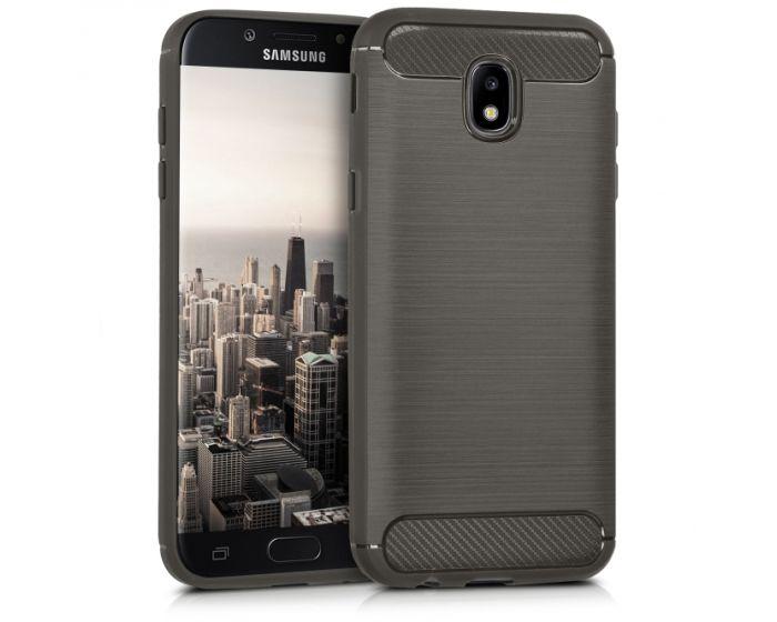KWmobile Jelly Brushed Carbon Slim Case Θήκη Σιλικόνης (41161.02) Grey (Samsung Galaxy J5 2017)