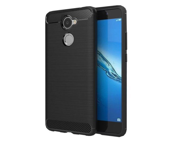 TPU Carbon Rugged Armor Case Black (Huawei Y7 Prime)