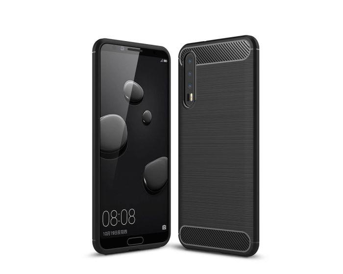 TPU Carbon Rugged Armor Case Ανθεκτική Θήκη Black (Huawei P20 Pro)