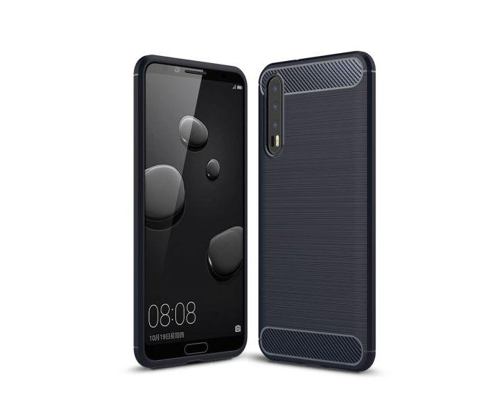 TPU Carbon Rugged Armor Case Ανθεκτική Θήκη Blue (Huawei P20 Pro)
