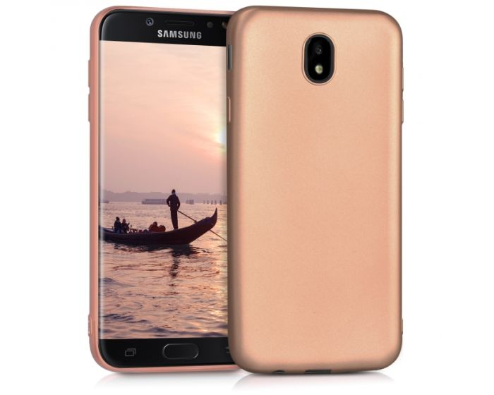 KWmobile Jelly Case Θήκη Σιλικόνης (42289.31) Metallic Rose Gold (Samsung Galaxy J7 2017)