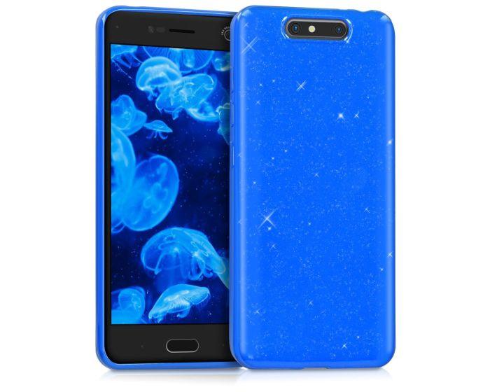 KWmobile TPU Silicone Case (42305.04) Blue Glitter (ZTE Blade V8)