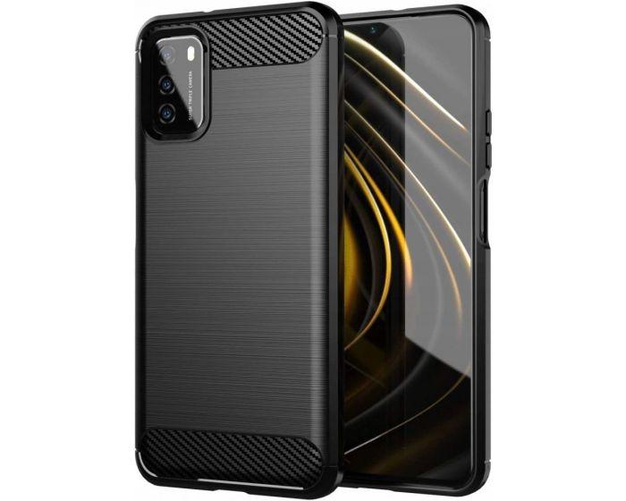 TPU Carbon Rugged Armor Case Black (Xiaomi Poco M3 / Redmi 9T)