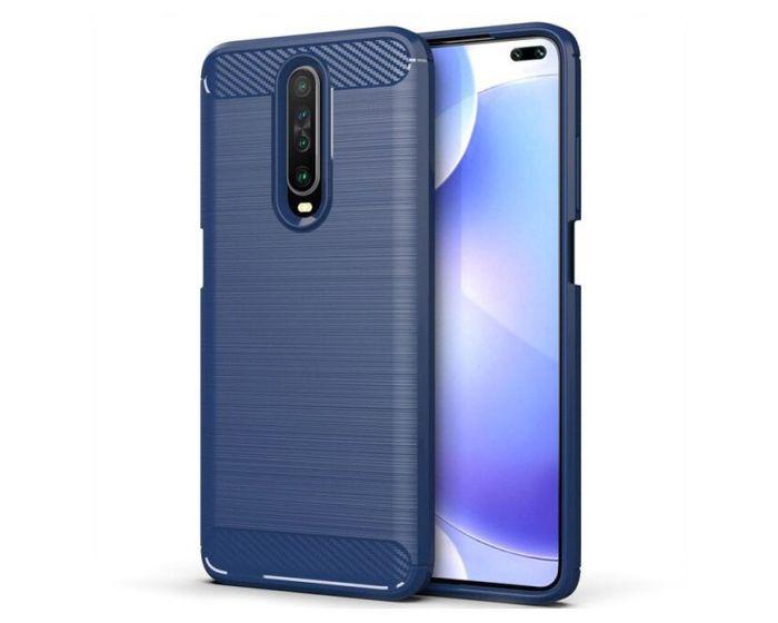 TPU Carbon Rugged Armor Case Blue (Xiaomi Redmi K30)