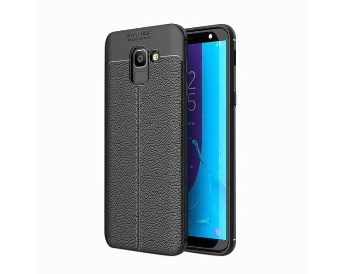 TPU Rugged Armor Football Grain Case Black (Samsung Galaxy J6 2018)