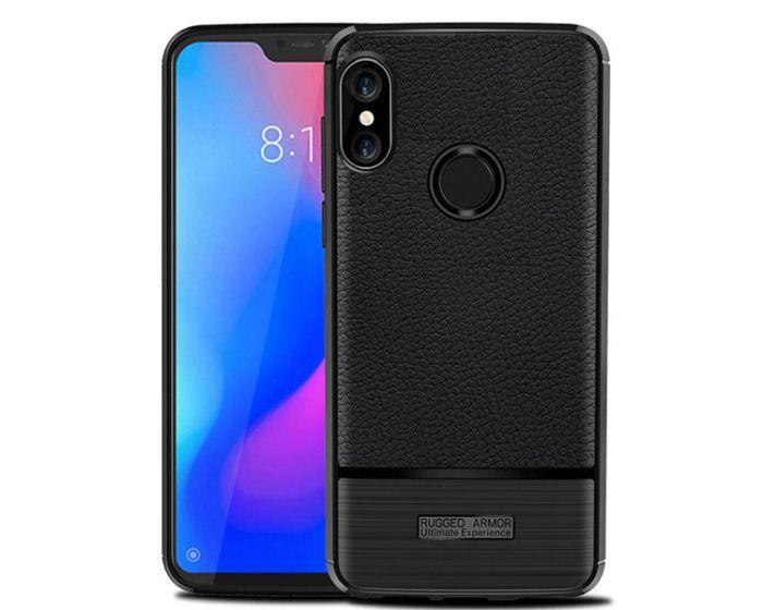 TPU Rugged Armor Football Grain Case Black (Xiaomi Redmi Note 6 Pro)