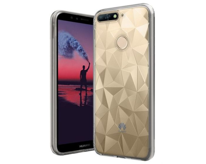 Forcell Air Prism 3D Pattern Flexible Θήκη Σιλικόνης Clear (Huawei Y6 Prime 2018)