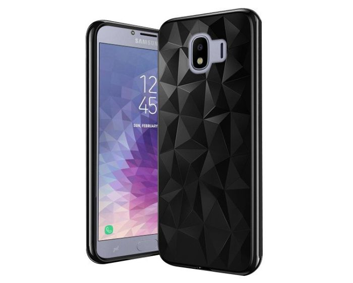 Forcell Air Prism 3D Pattern Flexible Θήκη Σιλικόνης Black (Samsung Galaxy J4 2018)