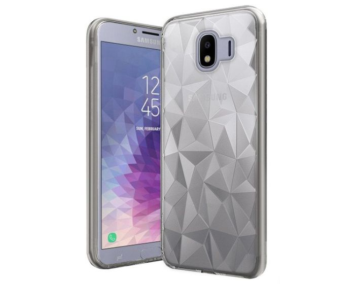 Forcell Air Prism 3D Pattern Flexible Θήκη Σιλικόνης Clear (Samsung Galaxy J4 2018)