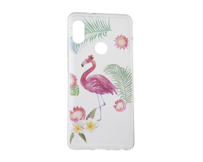 Forcell Slim Fit Gel Case Summer Flamingo Θήκη Σιλικόνης (Huawei P20 Lite)