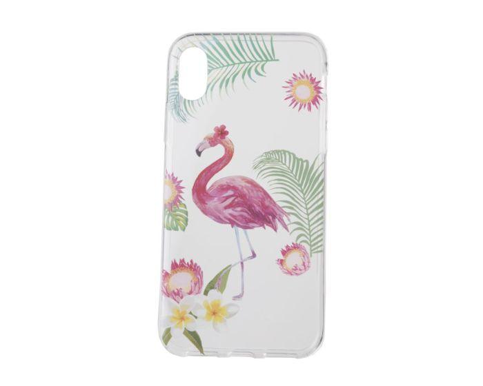 Forcell Slim Fit Gel Case Summer Flamingo Θήκη Σιλικόνης (iPhone X / XS)