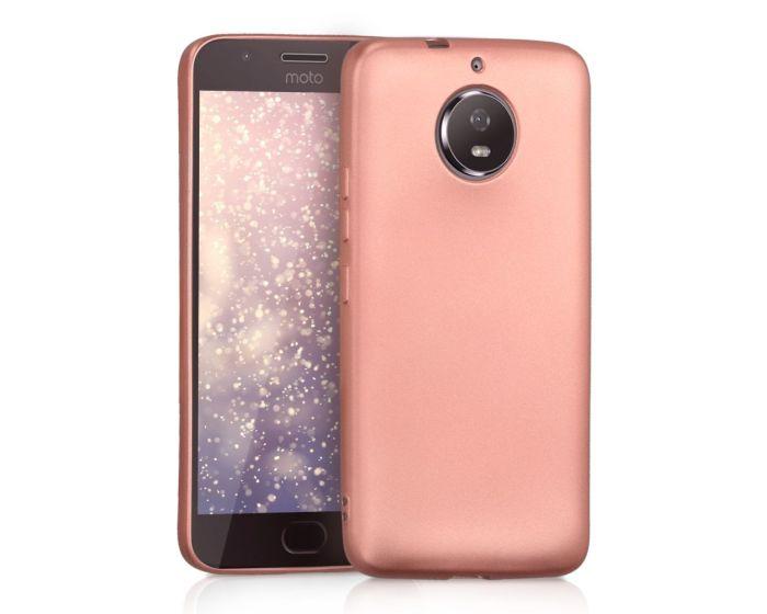 KWmobile Jelly Case Θήκη Σιλικόνης (43541.81) Metallic Rose Gold (Motorola Moto G5s)