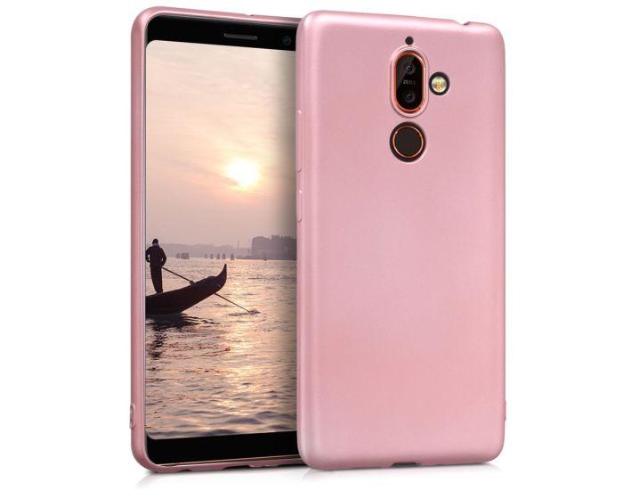 KWmobile TPU Silicone Case (44500.31) Metallic Rose Gold (Nokia 7 Plus)