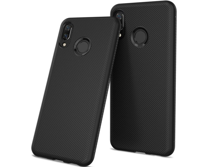 Twill Texture Soft Fitted TPU Case Black (Huawei Honor 8X)