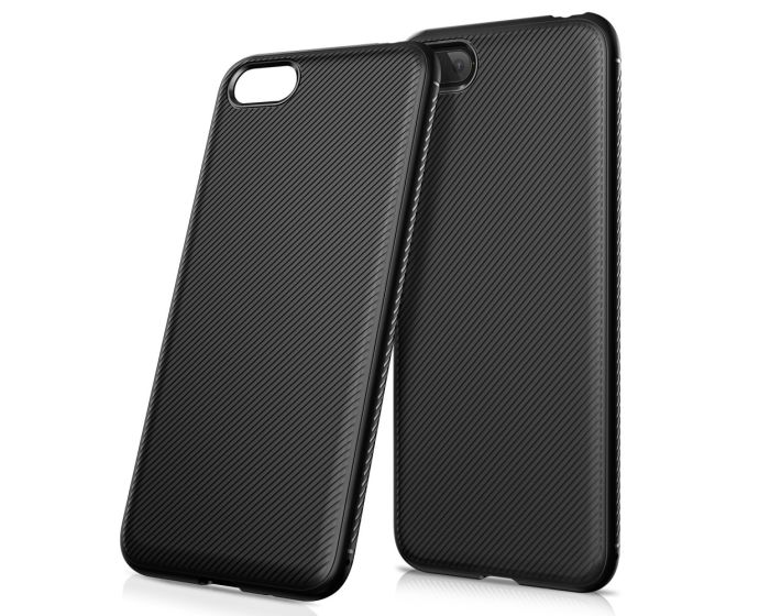 Twill Texture Soft Fitted TPU Case Black (Huawei Y5 2018 / Y5 Prime 2018)