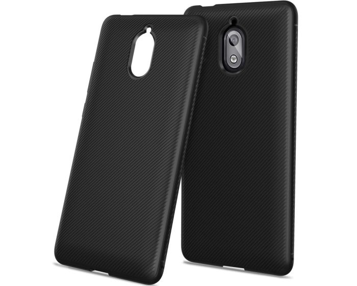 Twill Texture Soft Fitted TPU Case Black (Nokia 3.1 2018)