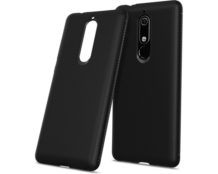 Twill Texture Soft Fitted TPU Case Black (Nokia 5.1 2018)
