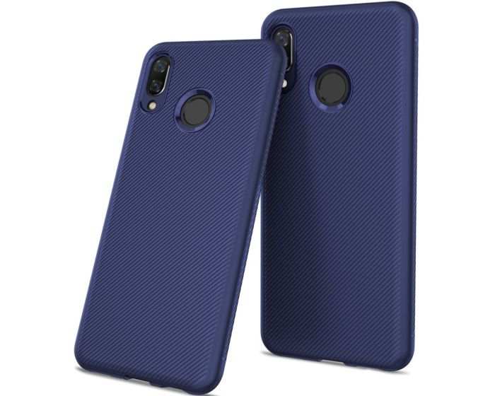 Twill Texture Soft Fitted TPU Case Blue (Huawei Honor 8X)