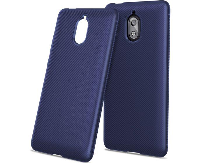 Twill Texture Soft Fitted TPU Case Dark Blue (Nokia 3.1 2018)