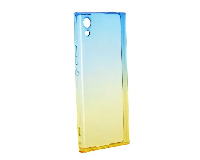Forcell Soft TPU Case Ombre - Blue / Gold (Sony Xperia XA1)