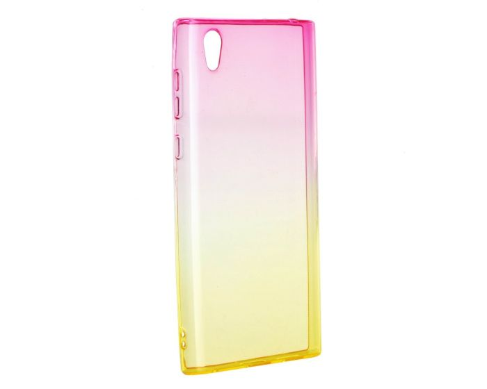 Forcell Soft TPU Case Ombre - Pink / Gold (Sony Xperia L1)