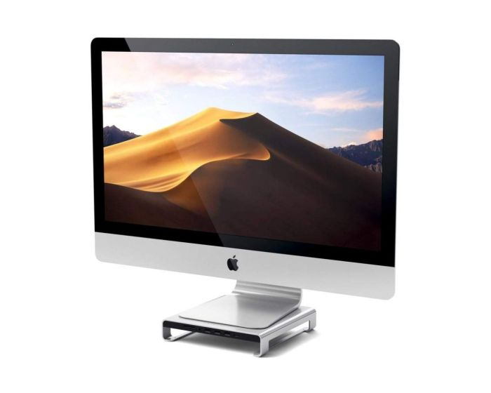 SATECHI Type-C Aluminum Monitor Stand Hub for iMac - Silver