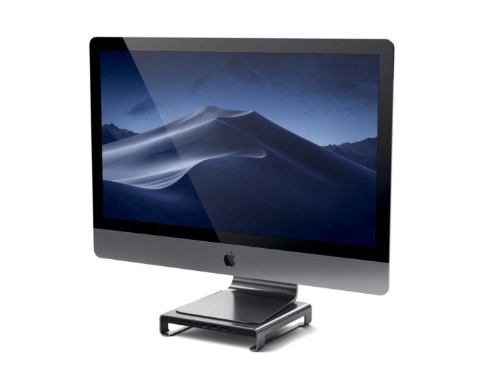 SATECHI Type-C Aluminum Monitor Stand Hub for iMac - Space Grey
