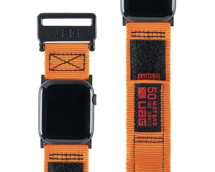 UAG Active Watch Strap Orange Υφασμάτινο Λουράκι για Apple Watch 42/44mm (1/2/3/4/5/6/SE)