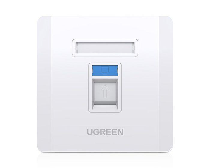 Ugreen 5x Wall Socket Internet LAN RJ45 (80181 NW144) Πρίζα Ίντερνετ - White