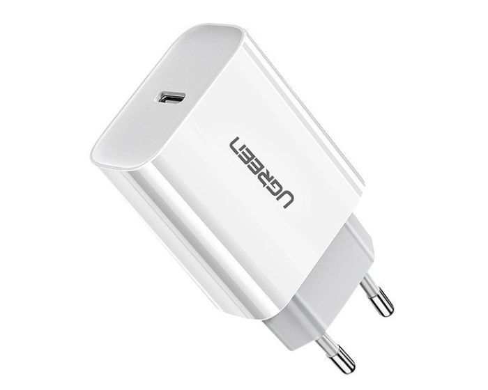 UGREEN Fast Wall Charger USB QC 3.0 / 4.0  3A 18W (60450) Αντάπτορας Φόρτισης - White