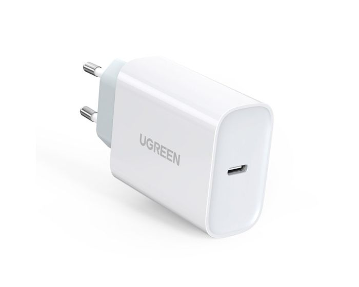 Ugreen Fast Wall Charger USB Type-C QC4.0 Power Delivery Quick Charge 30W (70161) Αντάπτορας Φόρτισης - White