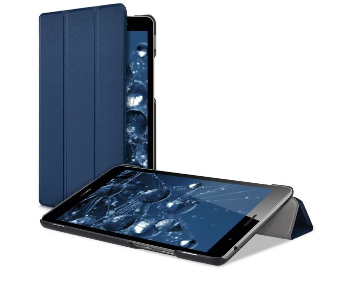 KWmobile Ultra Slim Smart Cover Case (41752.17) με δυνατότητα Stand - Blue (Huawei MediaPad T3 8.0'')