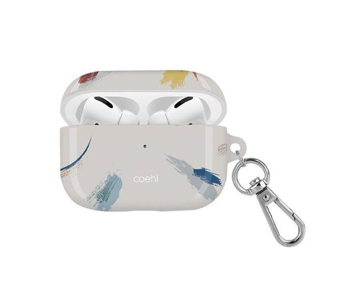 UNIQ Coehl Reverie Airpods Pro Case Ανθεκτική Θήκη για Airpods Pro - Soft Ivory