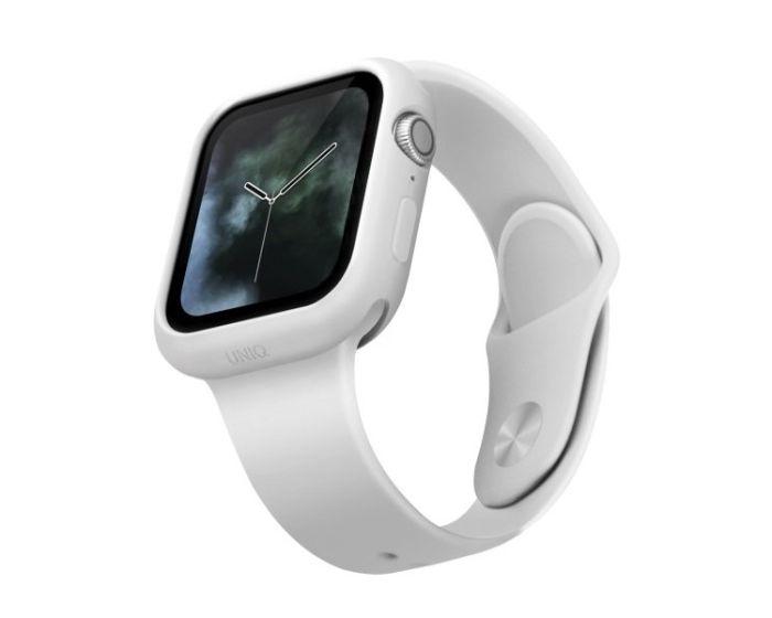 UNIQ Lino Slim Silicone Case Θήκη Σιλικόνης White για Apple Watch 40mm (Series 4/5/6/SE)