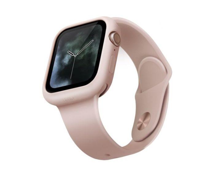 UNIQ Lino Slim Silicone Case Θήκη Σιλικόνης Pink για Apple Watch 44mm (Series 4/5/6/SE)