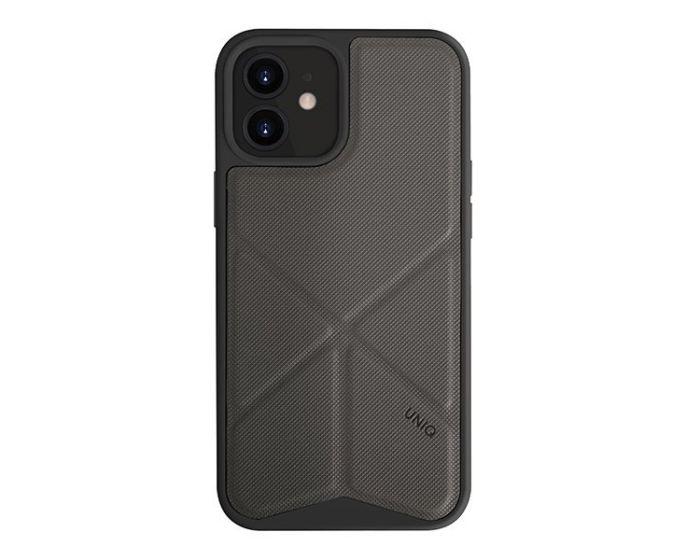 UNIQ Transforma Stand Case Charcoal Grey (iPhone 12 Mini)