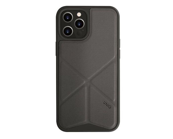 UNIQ Transforma Stand Case Charcoal Grey (iPhone 12 Pro Max)