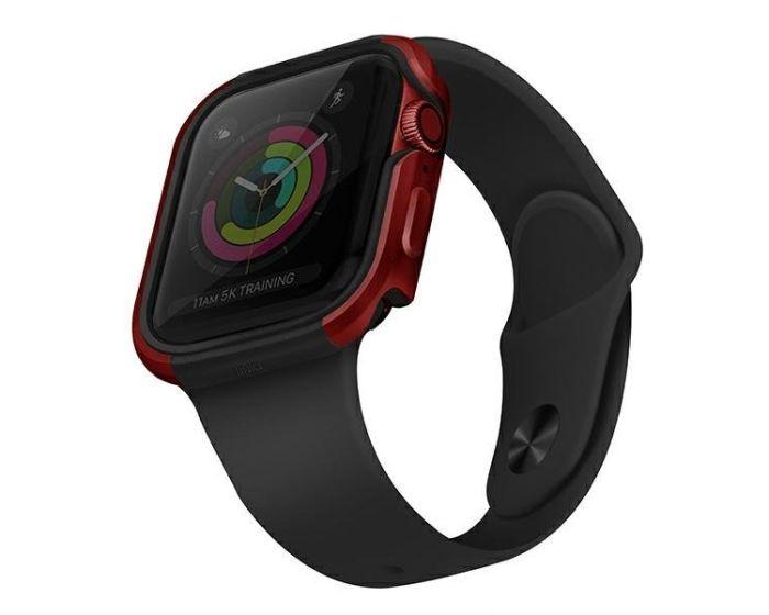 UNIQ Valencia Protective Case Θήκη Red για Apple Watch 44mm (Series 4/5/6/SE)