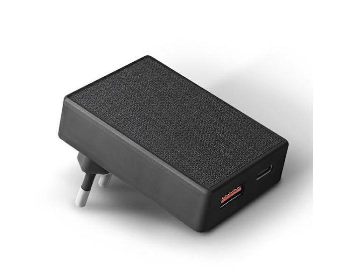 UNIQ Wall Charger Votre Slim Duo USB / Type C 20W - Charcoal Black
