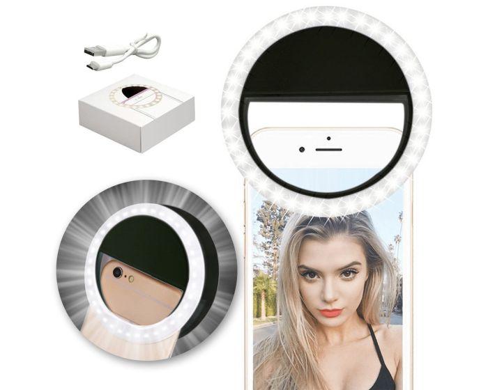 Universal Selfie Led Ring Light Φωτισμός Led για Smartphone - Black
