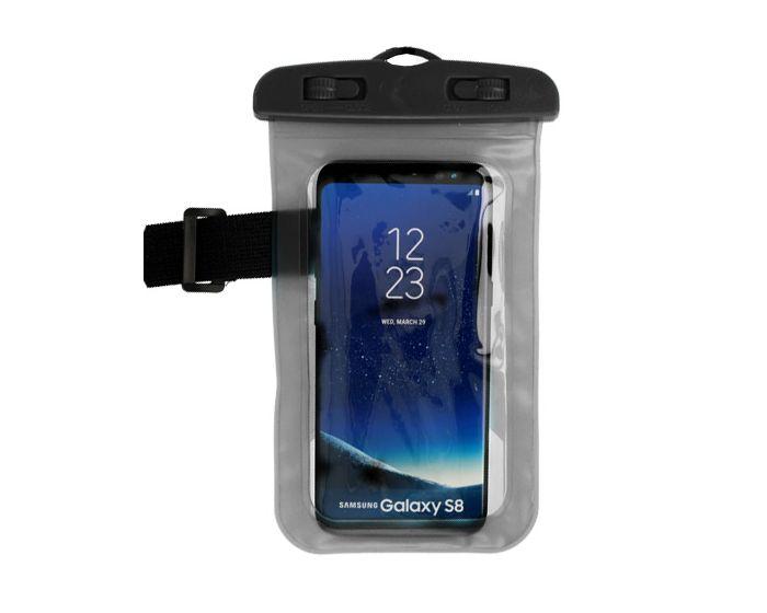 """Αδιάβροχη Θήκη Universal Bag / Armband για Συσκευές Οθόνης από 5.0'' έως 5.8"""" με Κούμπωμα - Black"""