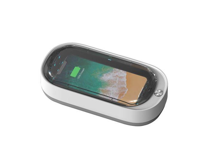 UVC Mobile Phone Sterilizer Disinfection Box Αποστειρωτής Κινητών, Κοσμημάτων κλπ. - White